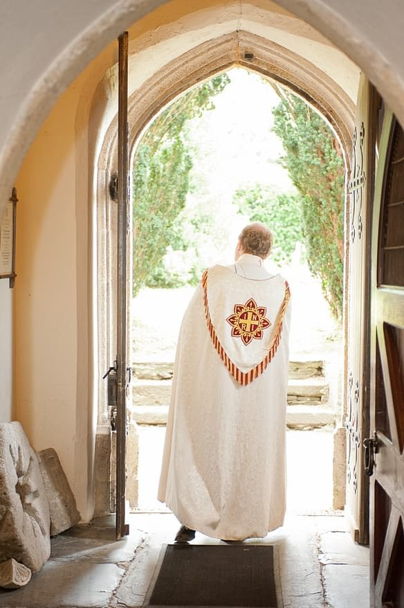 the priest wanting for a very late bride