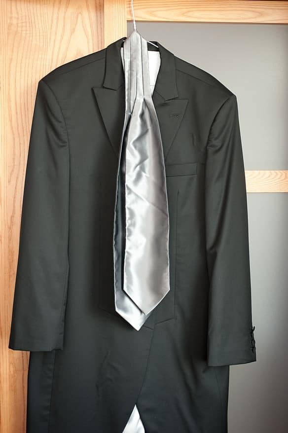 grooms suit in the hotel before a wedding at Crownhill fort