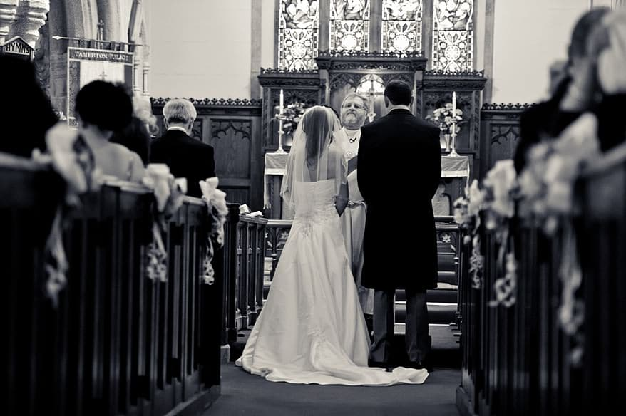 Wedding service at st mary's church in plymouth