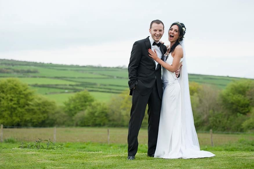 wedding at trevenna barns in cornwall
