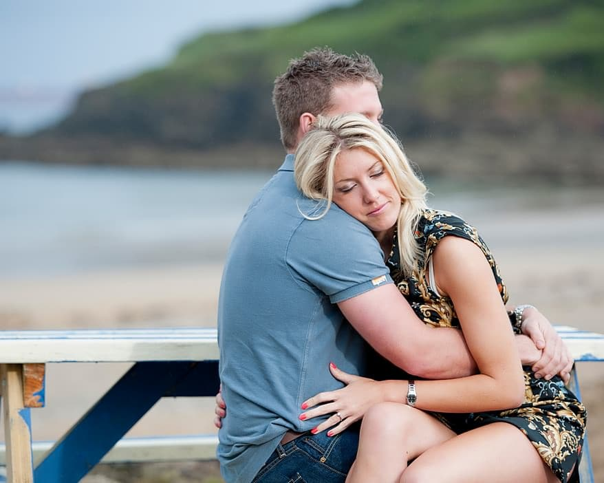 engagement session cornwall at The Cove