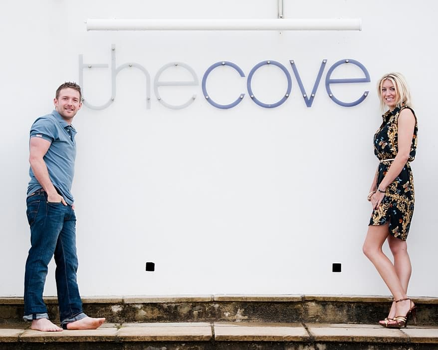 engagement shoot cornwall at The Cove