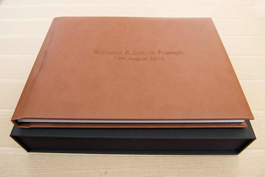 stunning leatherette wedding album and presentation box