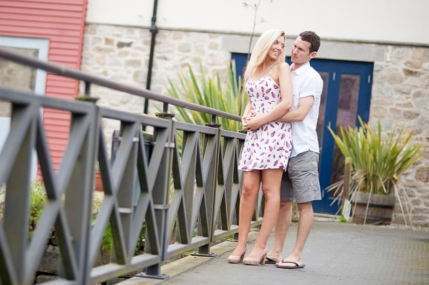 Engagement session on Penryn Bridge in Cornwall