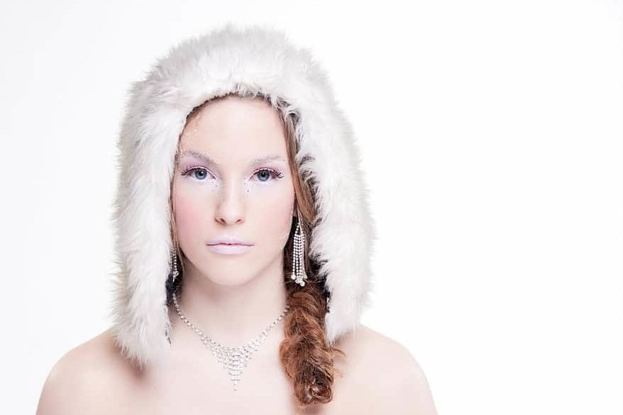 winter makeup photography 1 Cornwall portrait photographer