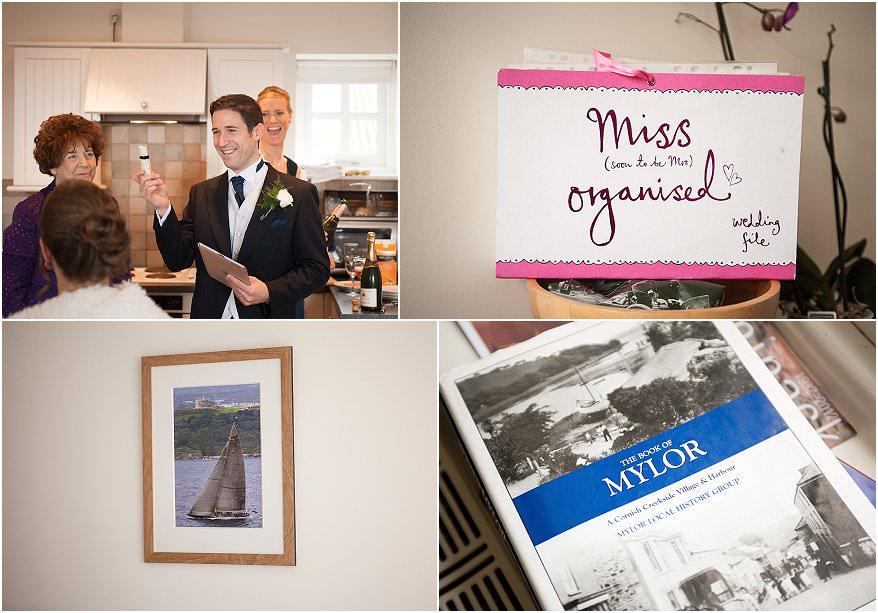 mylor church wedding and pendennis castle 1 wedding photographer cornwall