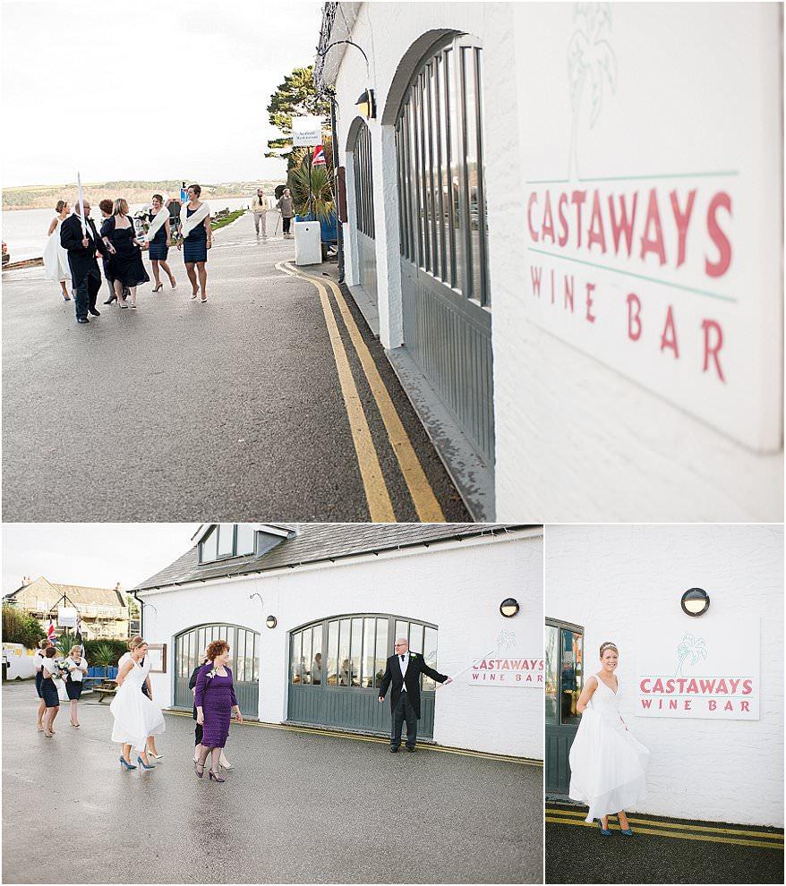 wedding at castaways wine bar in mylor