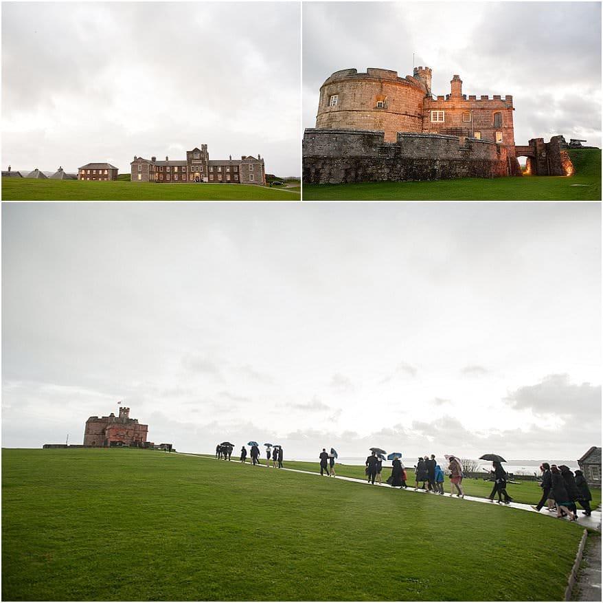 wedding at pendennis castle 55 wedding photographer cornwall