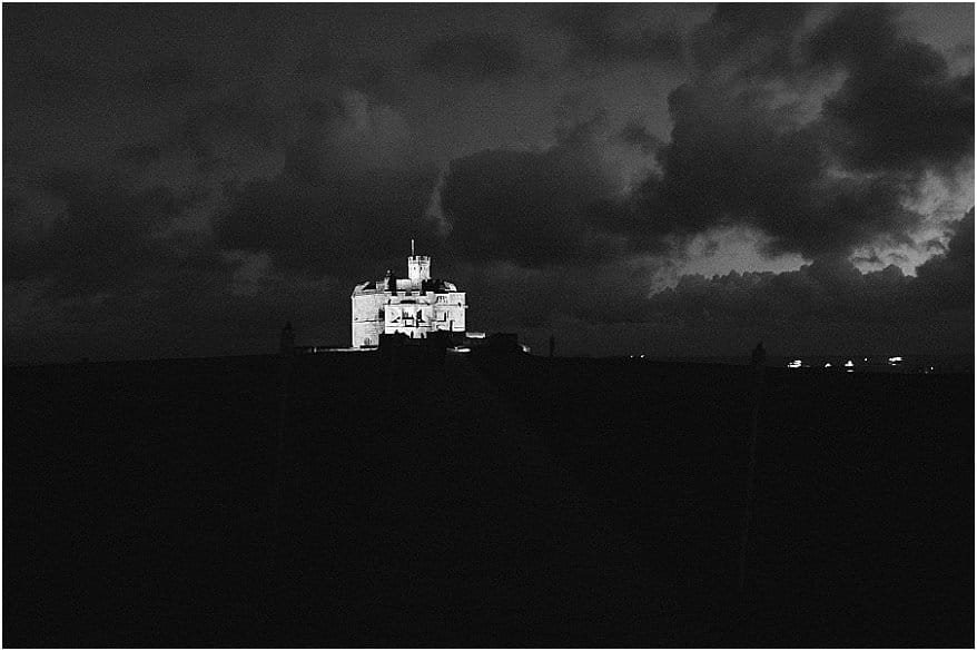 pendennis castle at night