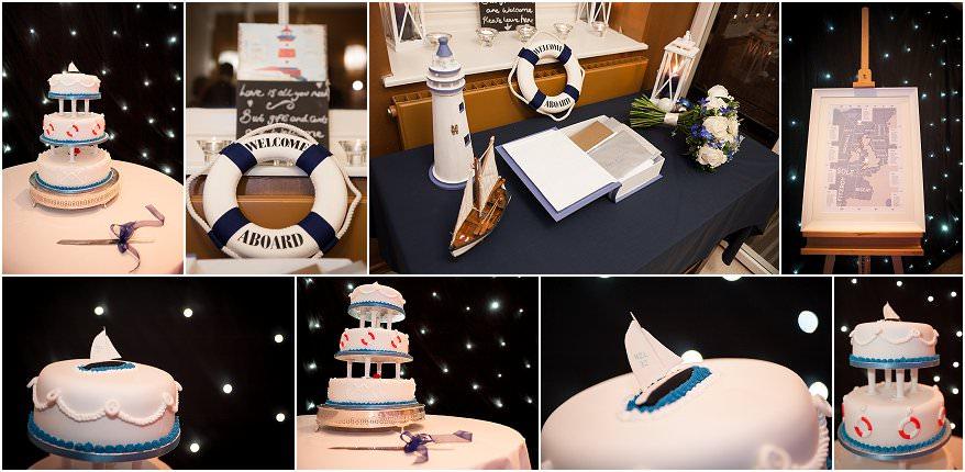 wedding cake at pendennis castle
