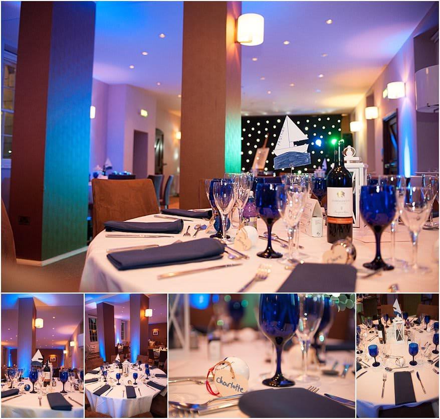 wedding reception room at pendennis castle 1