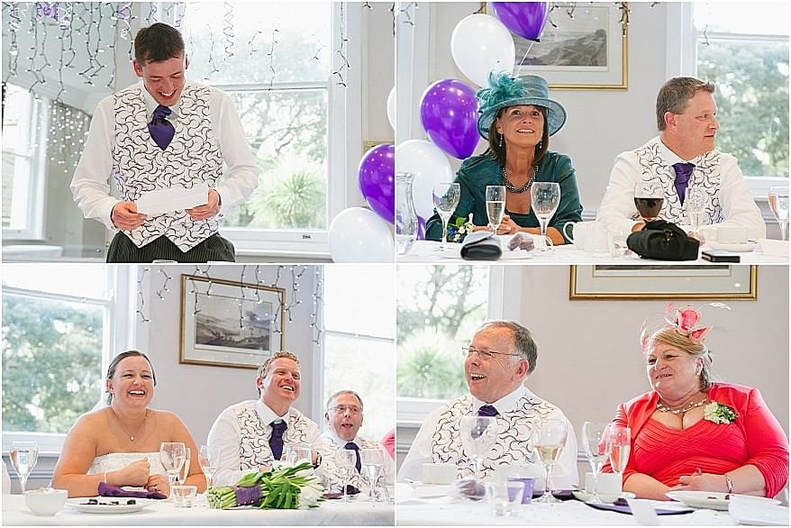 Wedding Speeches at the Falmouth Hotel