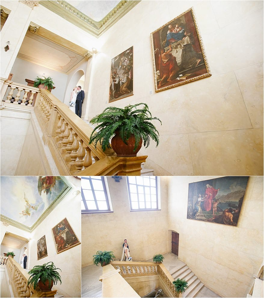 the grand stairway of the salo town hall
