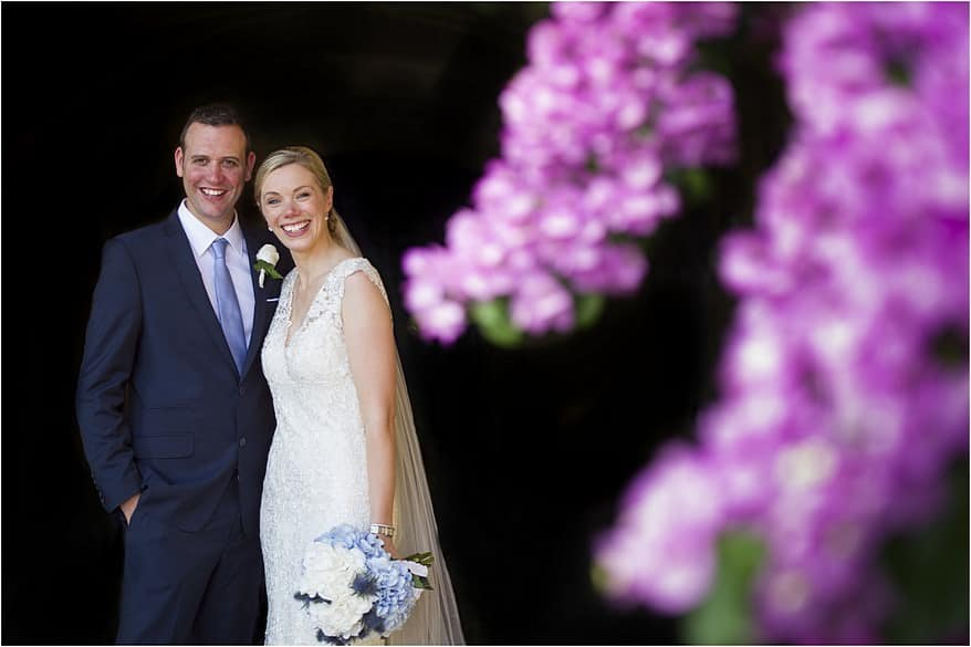 beautiful portraits of a bride and groom in Salo, italy