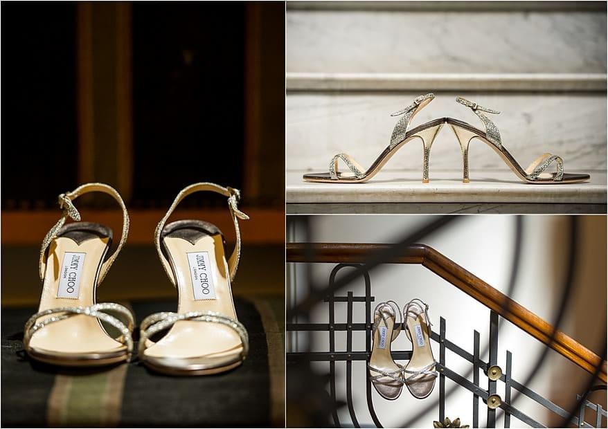 Jimmy Choo shoes for a Lake Garda Wedding