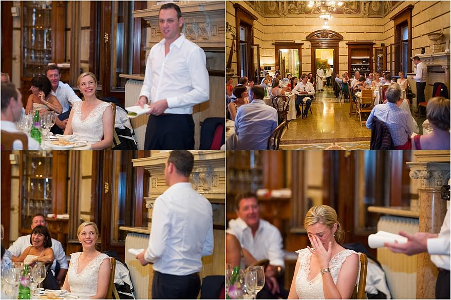 Groom speeches at Hotel Laurin