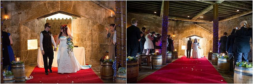 Wedding ceremonies at Pendennis Castle wedding photography