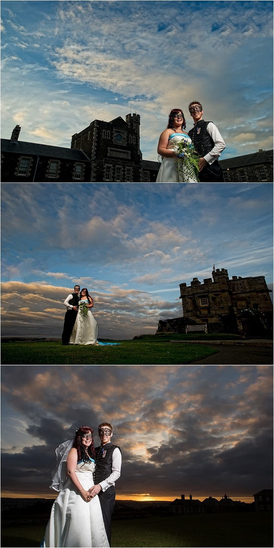 sunset over pendennis castle - Pendennis Castle wedding photography