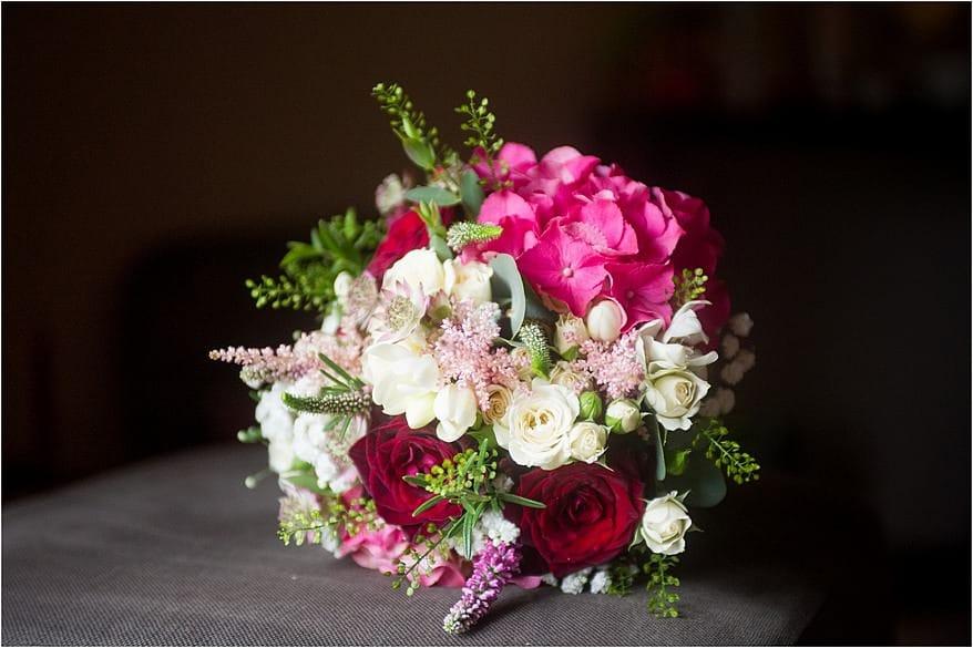 wedding flowers in beautiful window light