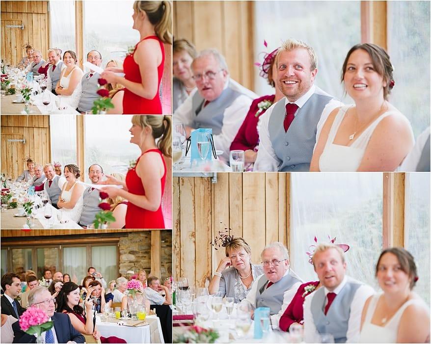 the best women doing her speech about the groom