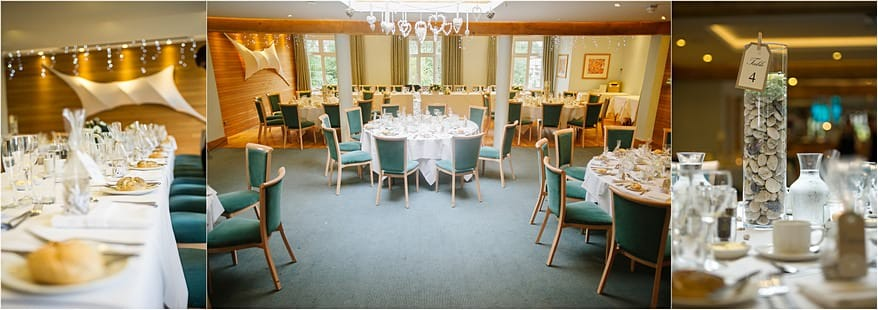 The wedding reception area boosting the layout of the table in the dinning room