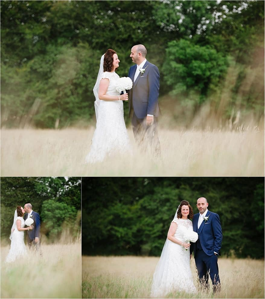 bridal portraits in the long grass at a trevenna wedding
