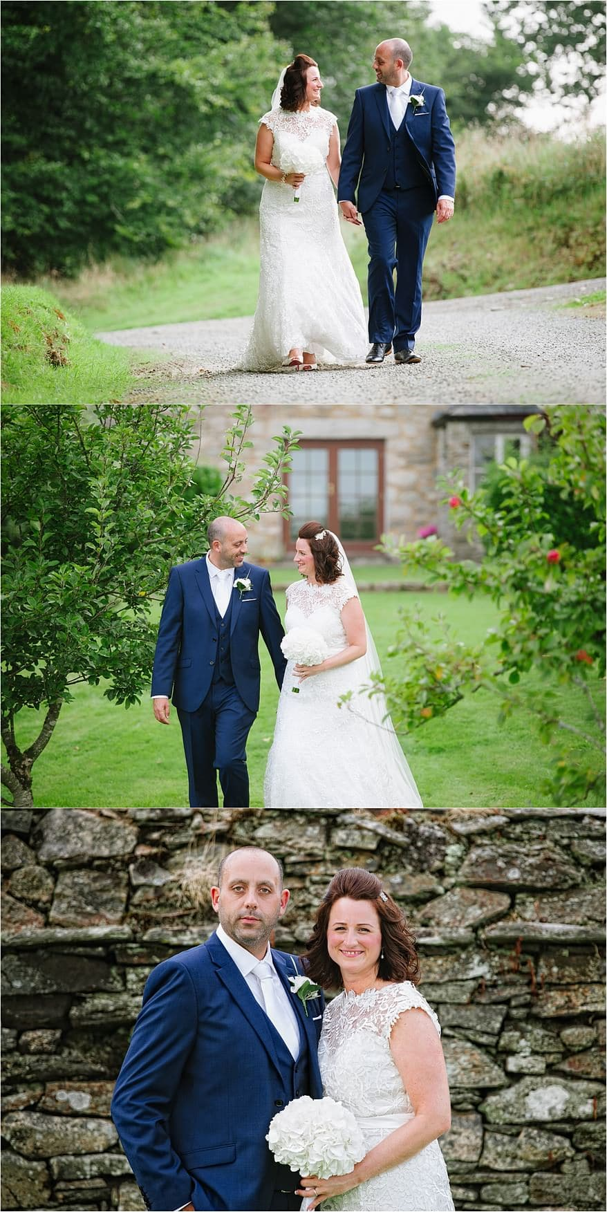 bridal portraits around the barns at trevenna