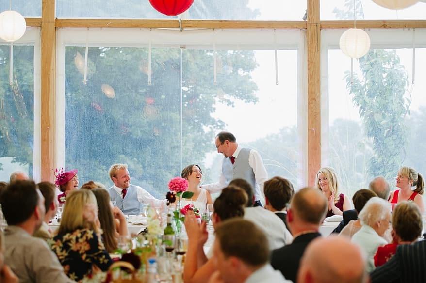 Head table at a Trevenna Barns wedding