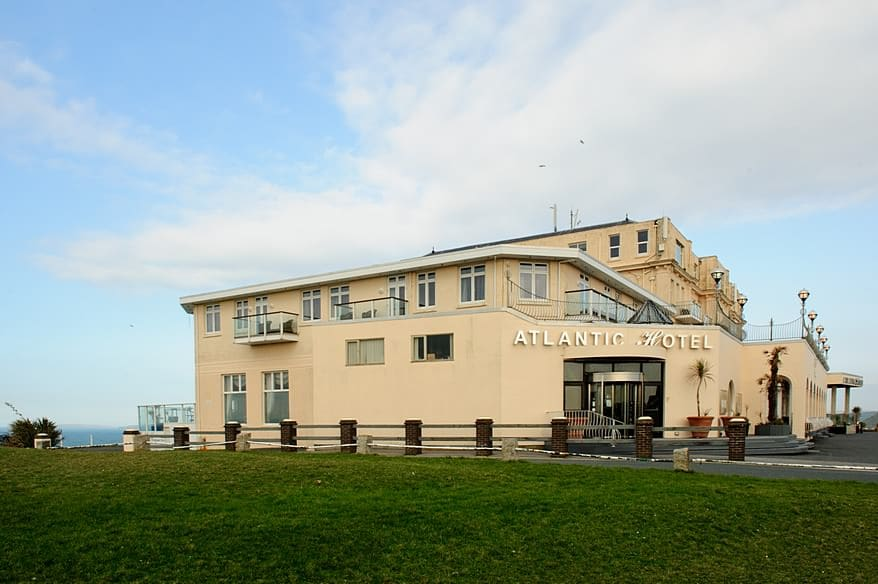 The stunning Atantic Hotel over looking Newquay
