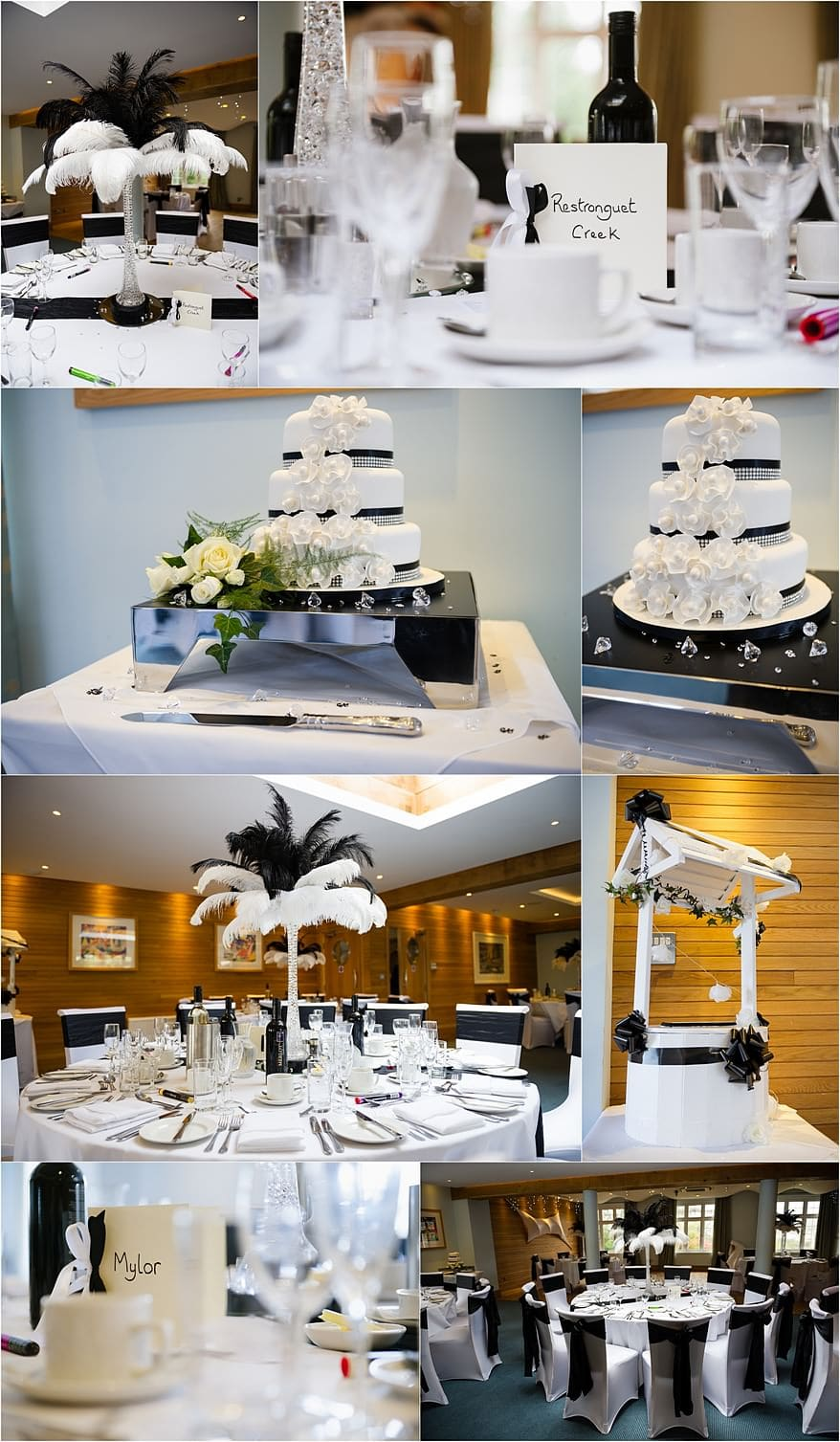 Vagas themed wedding details at St Michael's hotel wedding