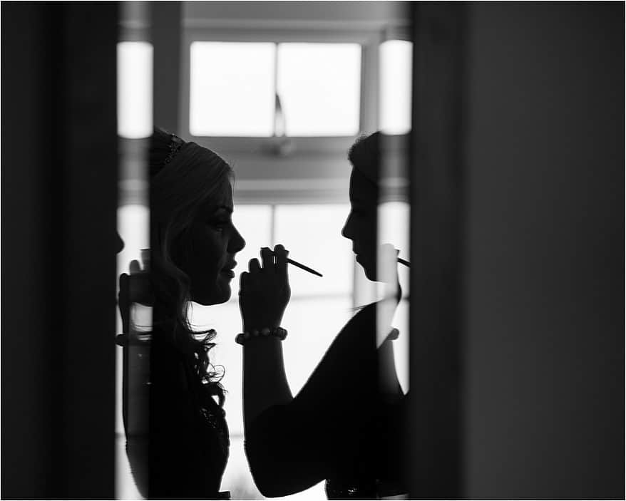 Black and white make up photograph at the St Michael's hotel