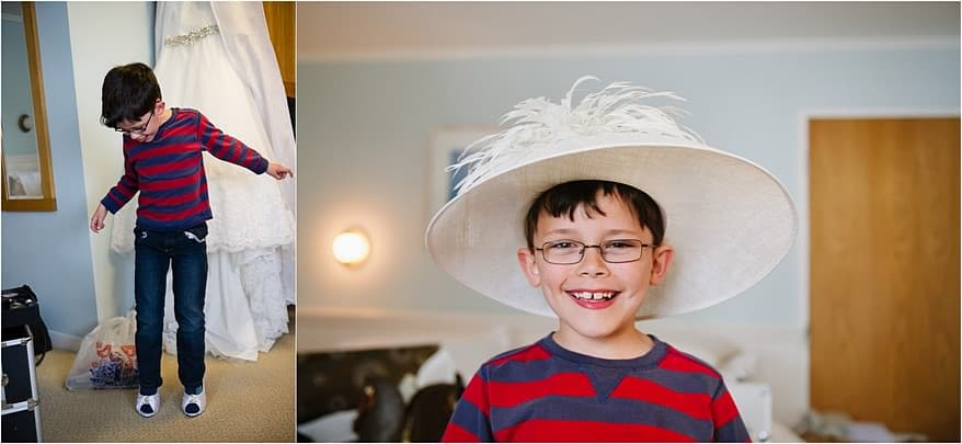 Page boy at a St Michael's Hotel Wedding