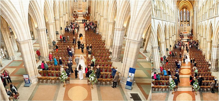 Gallery view of a wedding at Truro Cathedral