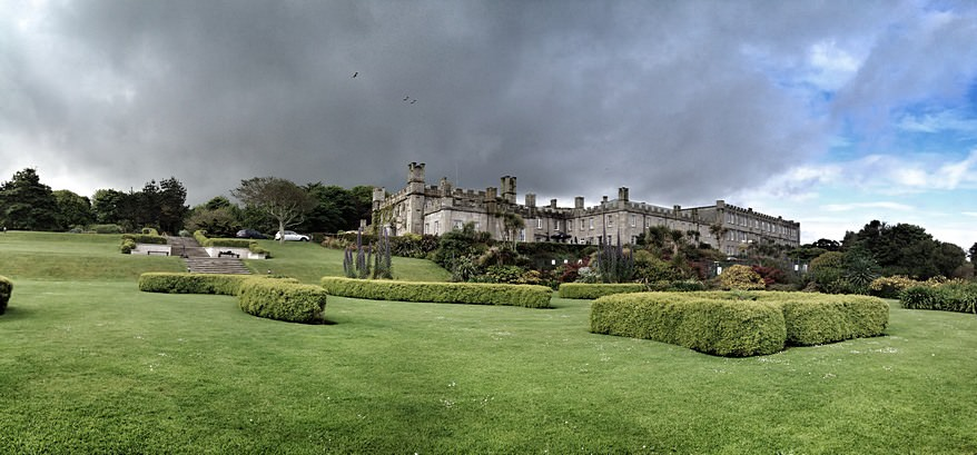 view of Tregenna Castle from the lawn