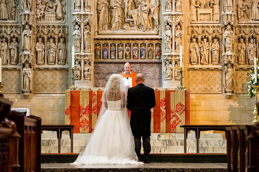 Bride and Groom wedding at Truro Cathedral