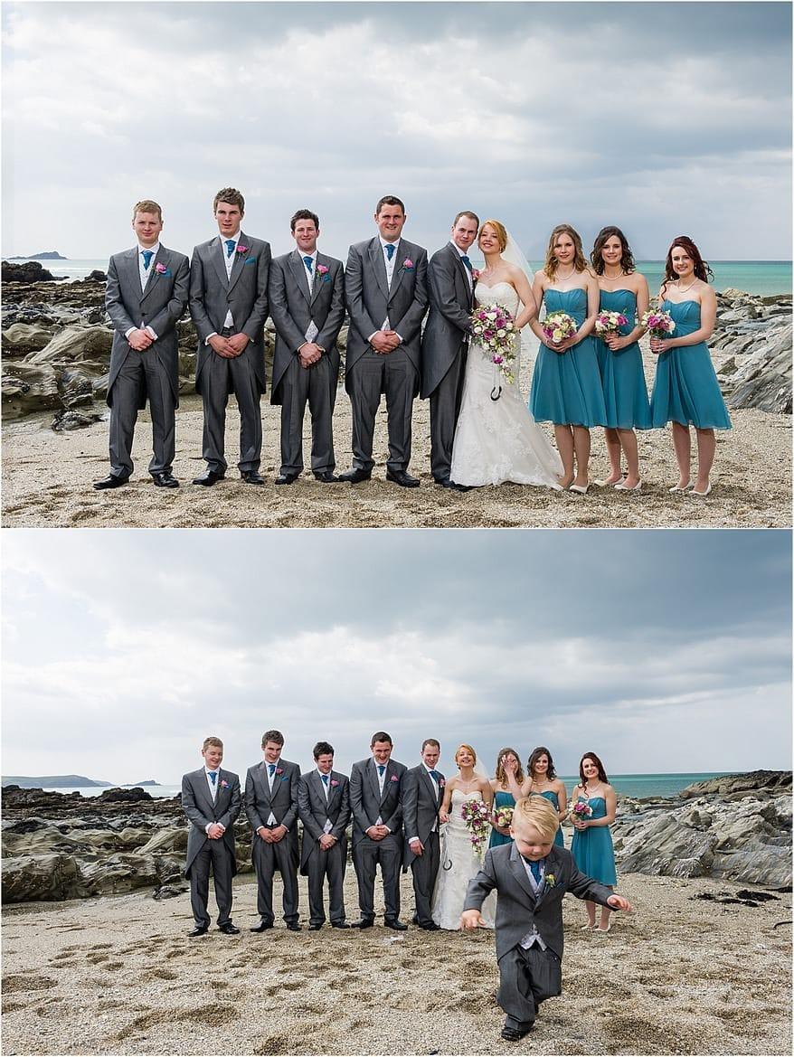 wedding at the Atlantic Hotel 1 wedding photographs at Firstal beach