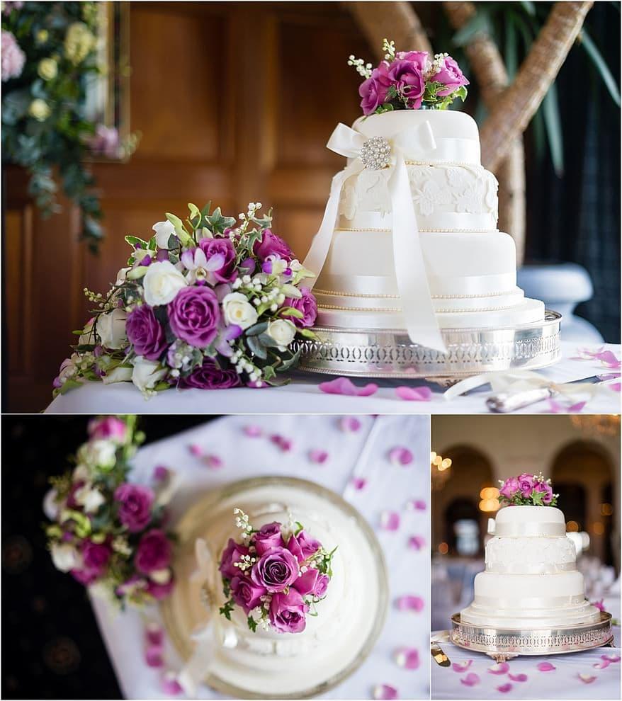 wedding cake at the Atlantic hotel