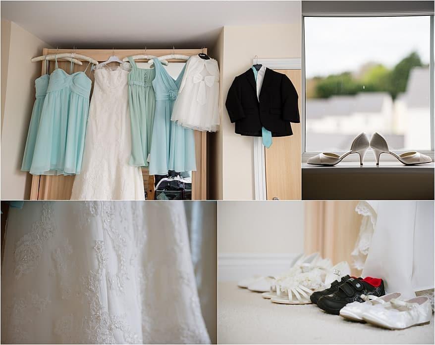 bridesmaids and brides wedding dress in Falmouth