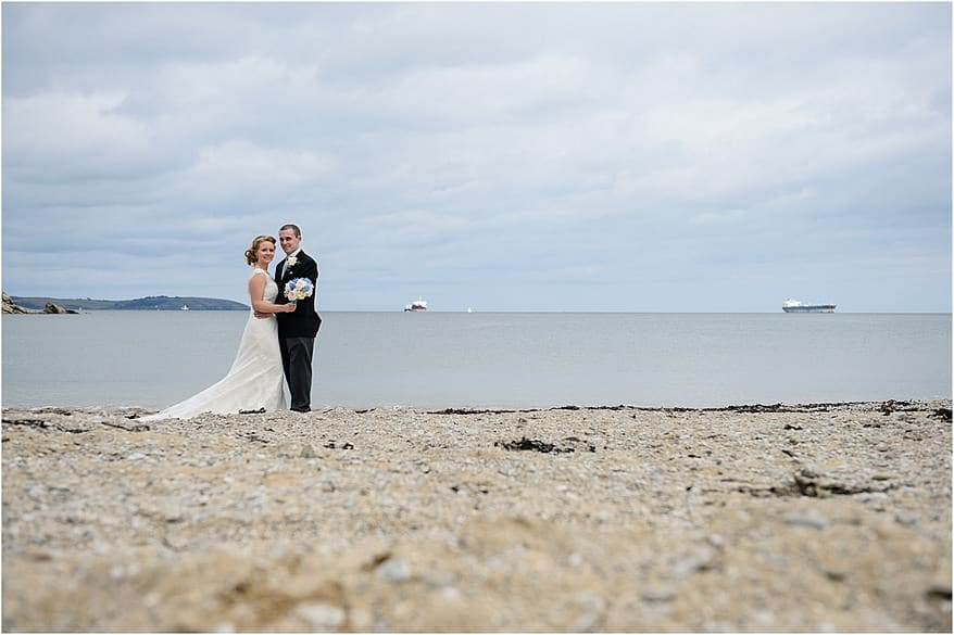 falmouth beach photograph of the bride and groom