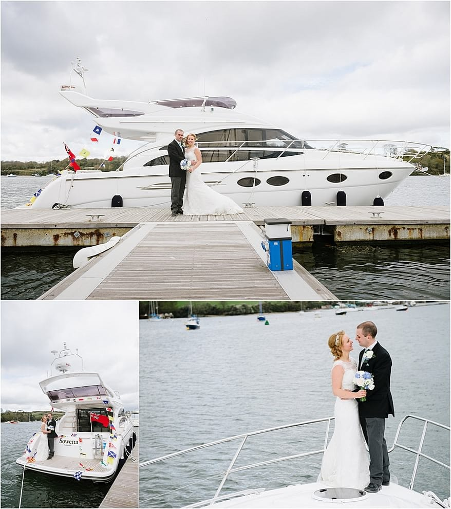 wedding photography at the Marine bar in Falmouth