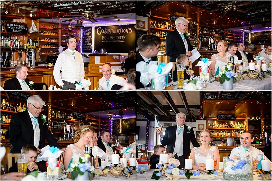 Wedding Speaches at the Falmouth Marine bar & resturant