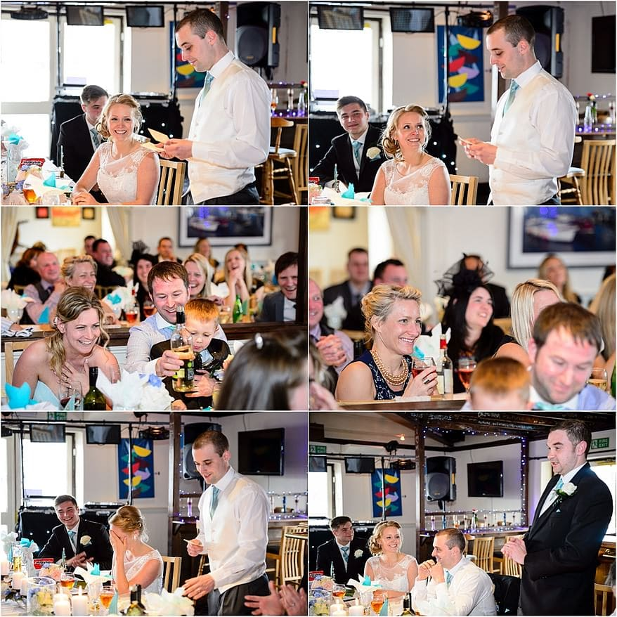 Groom's speech at the marine bar in Falmouth