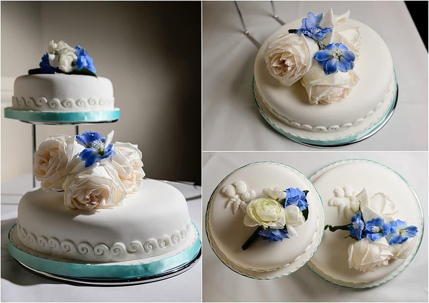 Wedding cake at the marina bar in falmouth