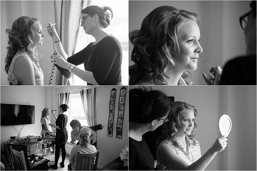 sally orchard doing the brides make up