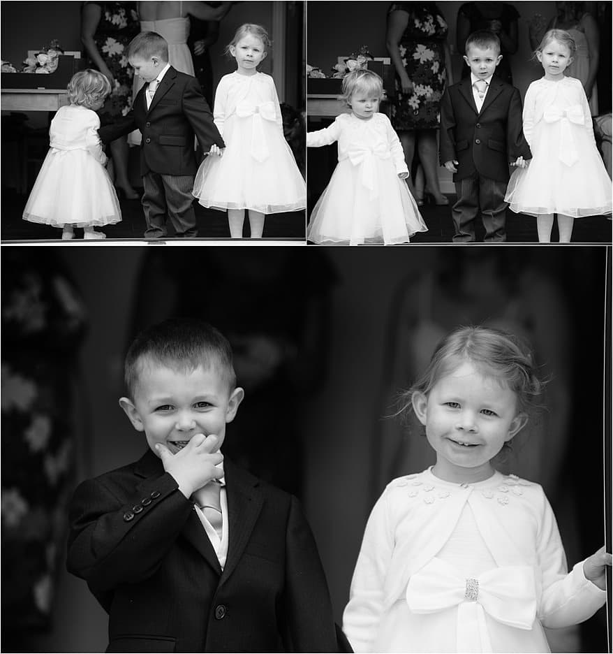 cute page boy and flower girls in falmouth