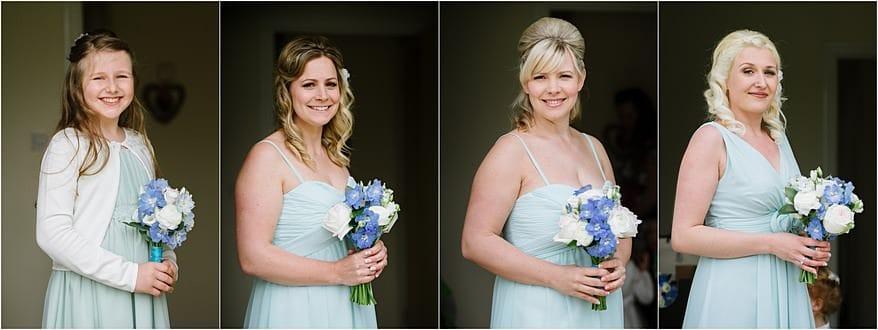 bridesmaids portraits for a falmouth marine bar wedding