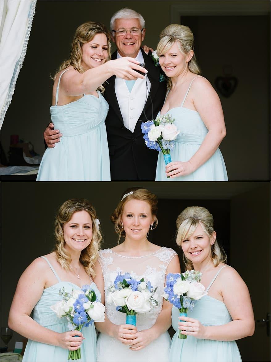 Brides family portrait for a Flamouth Marine bar wedding
