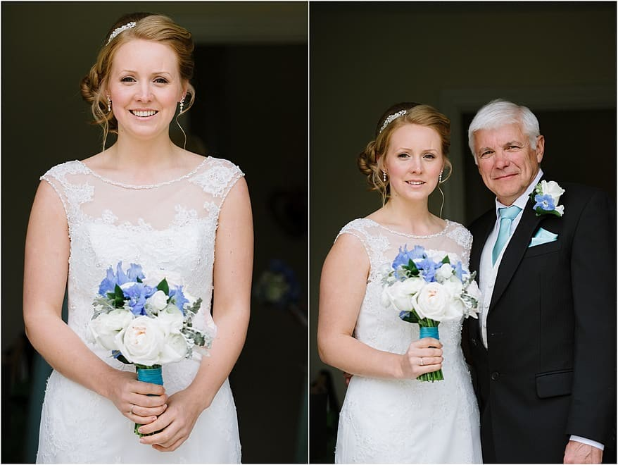Bride with her father in Falmouth