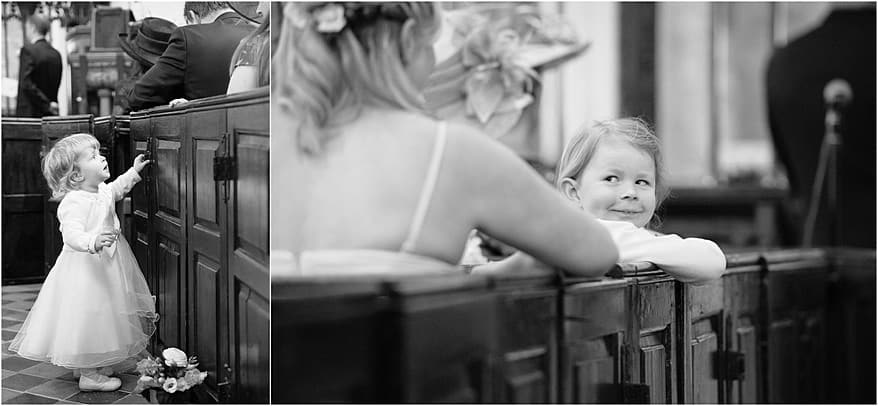 cheeky flower girl at Budock church in Falmouth