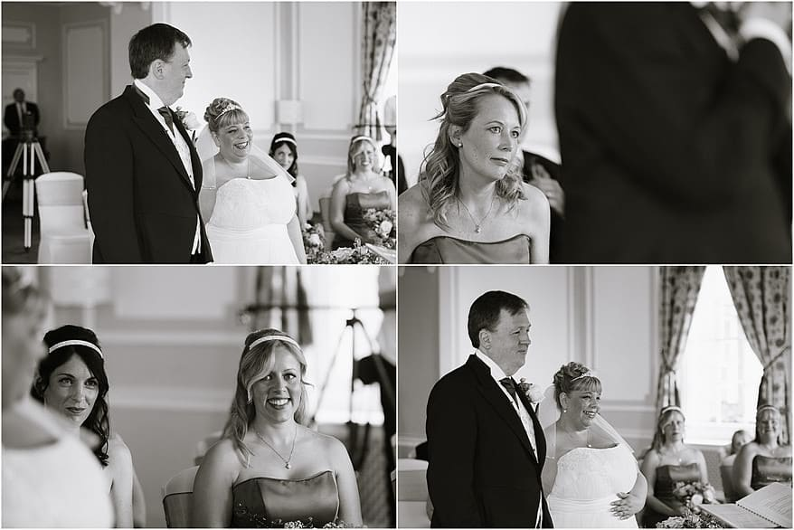 Wedding ceremony in the Godrevy Room
